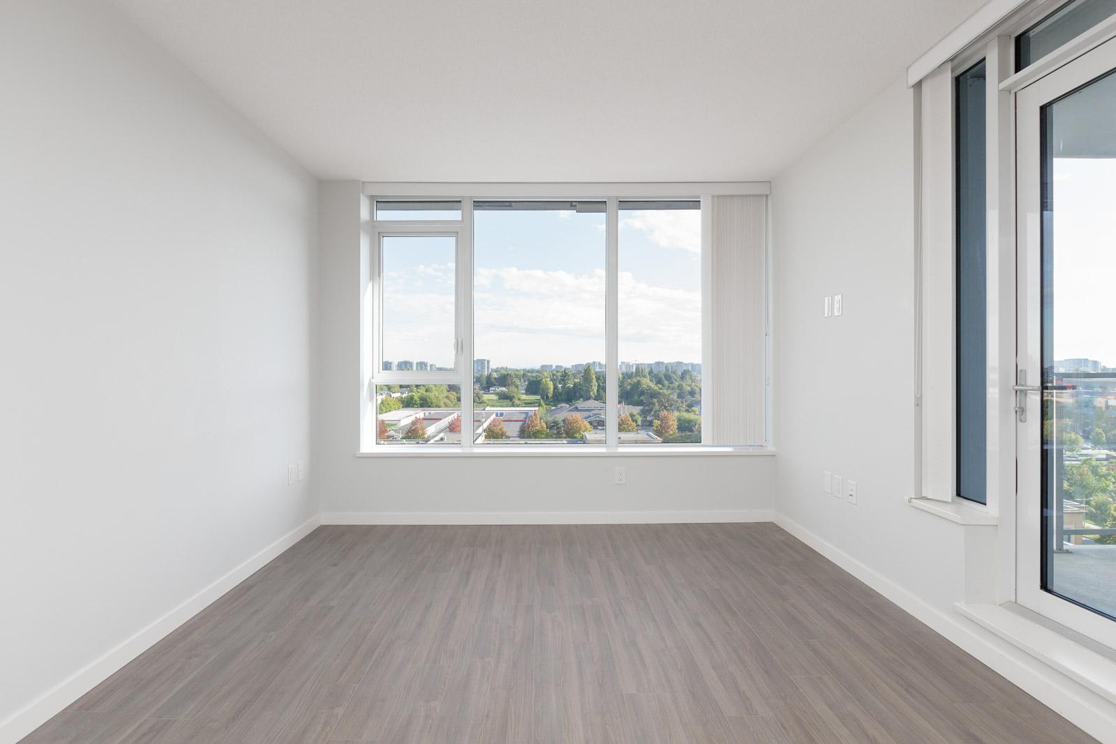 living room in rental condo