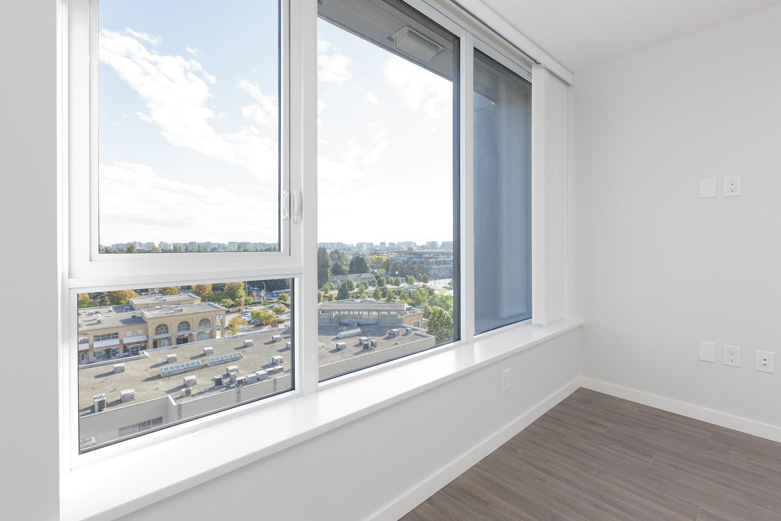 living room window in rental condo