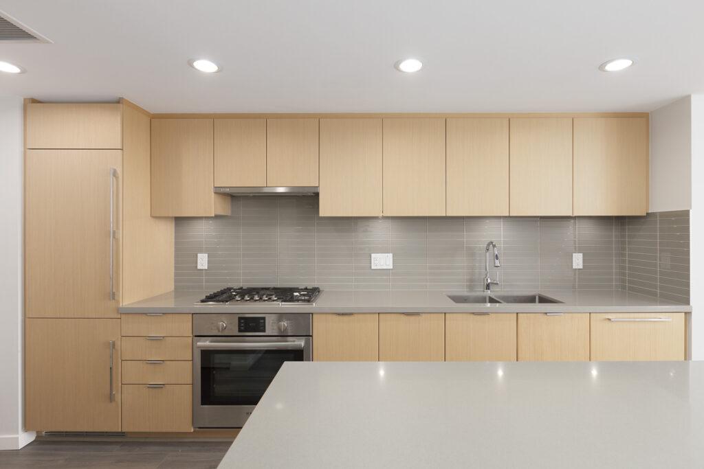kitchen counter in Richmond condo