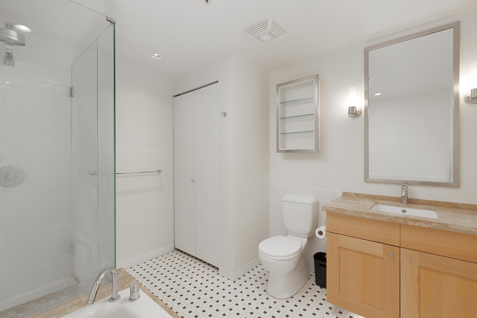 Modern bathroom in upscale Yaletown home