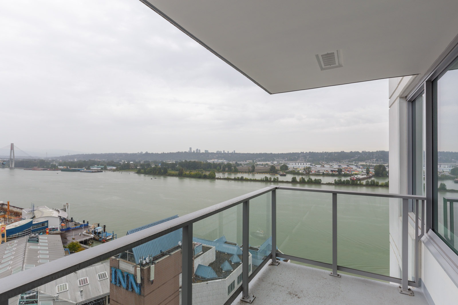 view from the balcony of a condo located in new westminster