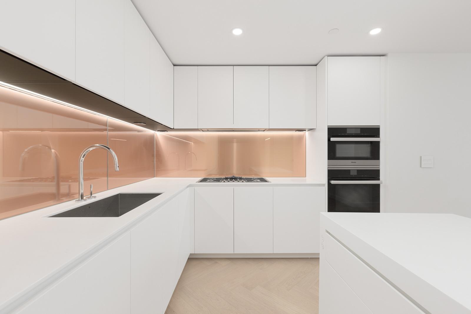 modern kitchen in upscale Yaletown condo