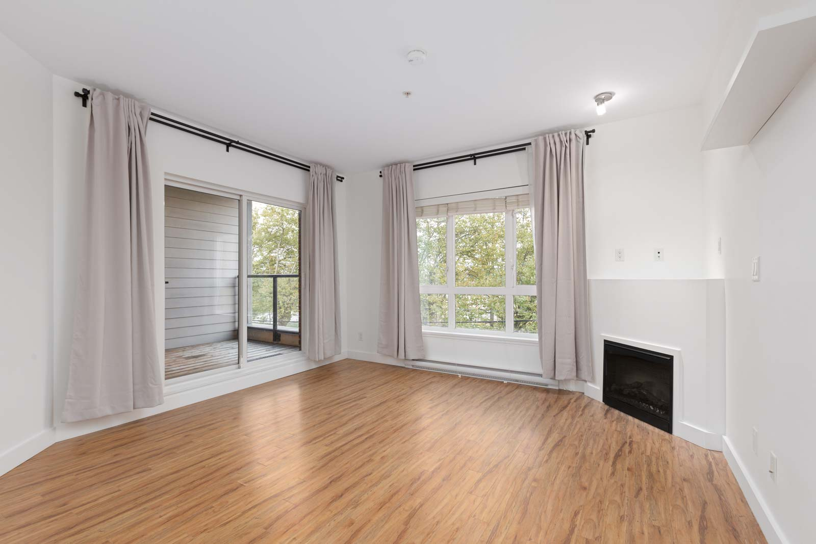 living room in Burnaby condo