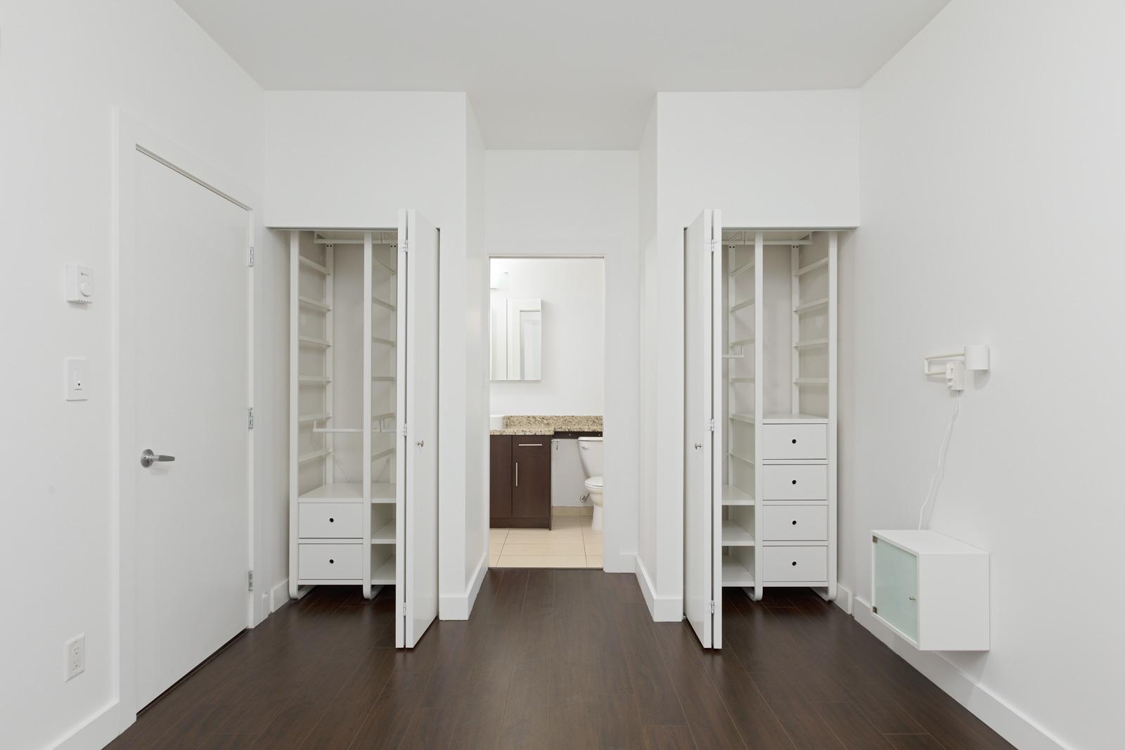 bedroom in Burnaby condo