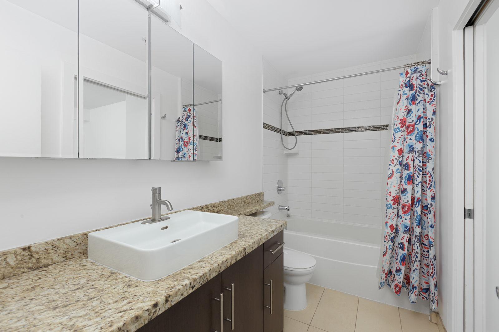 bathroom in Burnaby condo