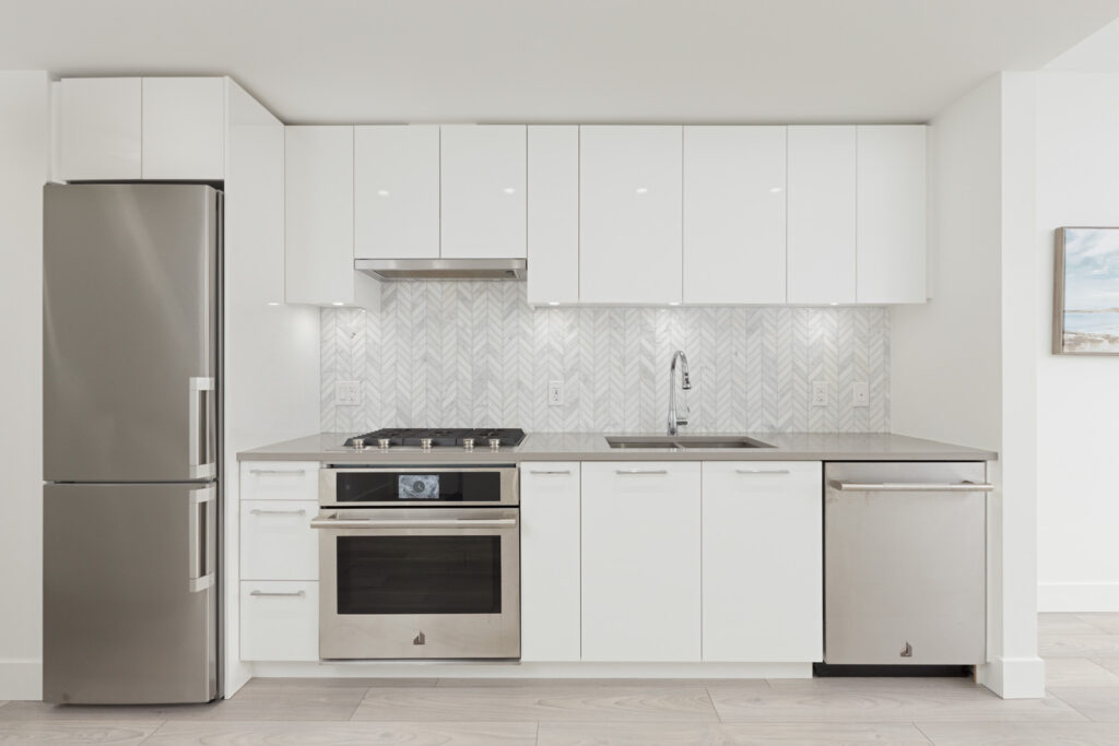 kitchen in upscale condo in East Vancouver