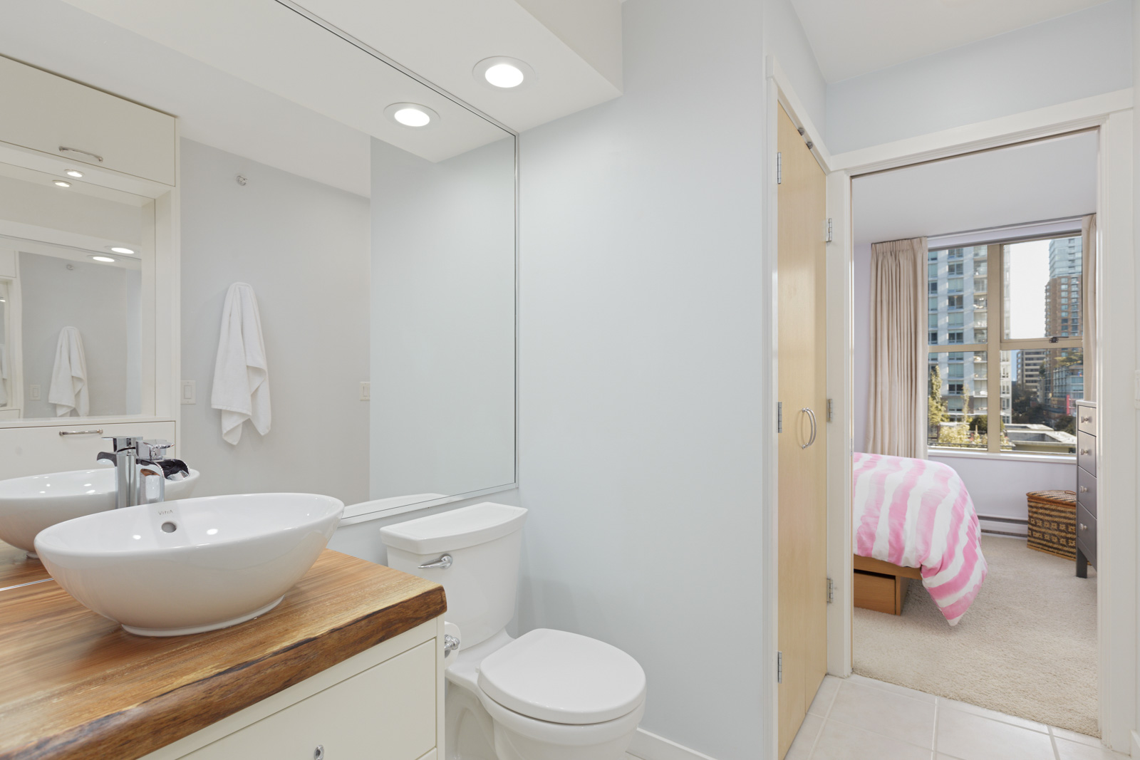 bathroom in upscale condo of downtown Vancouver