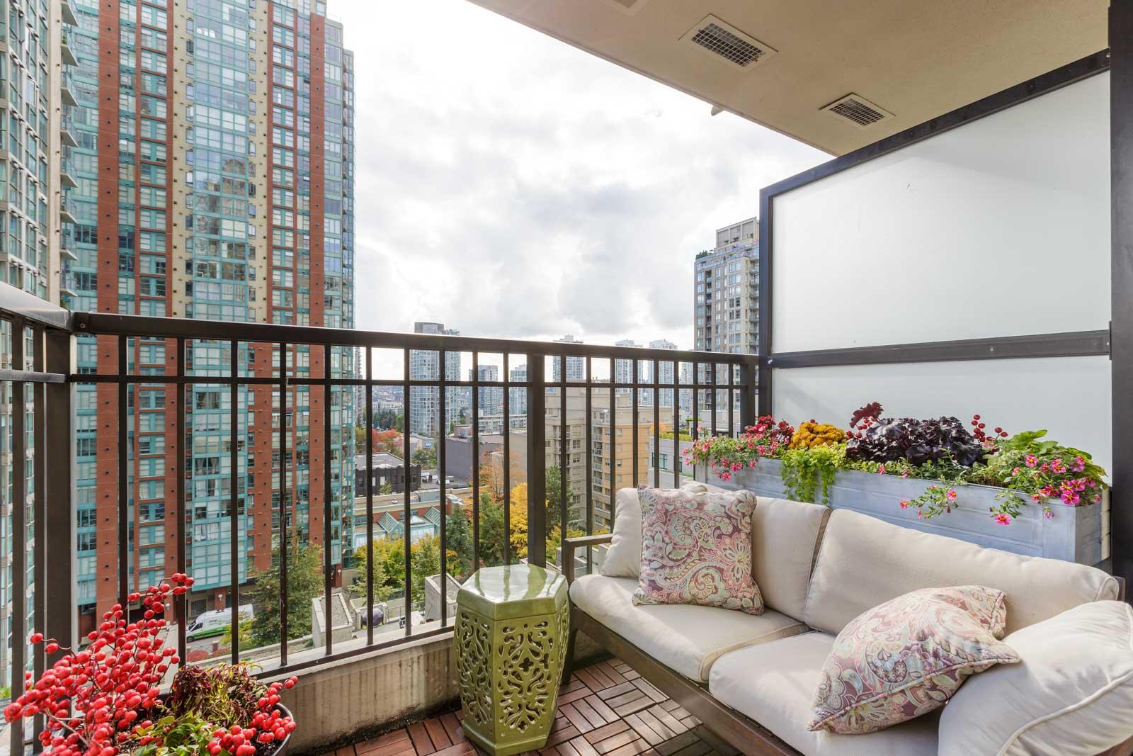 balcony of upscale Vancouver condo