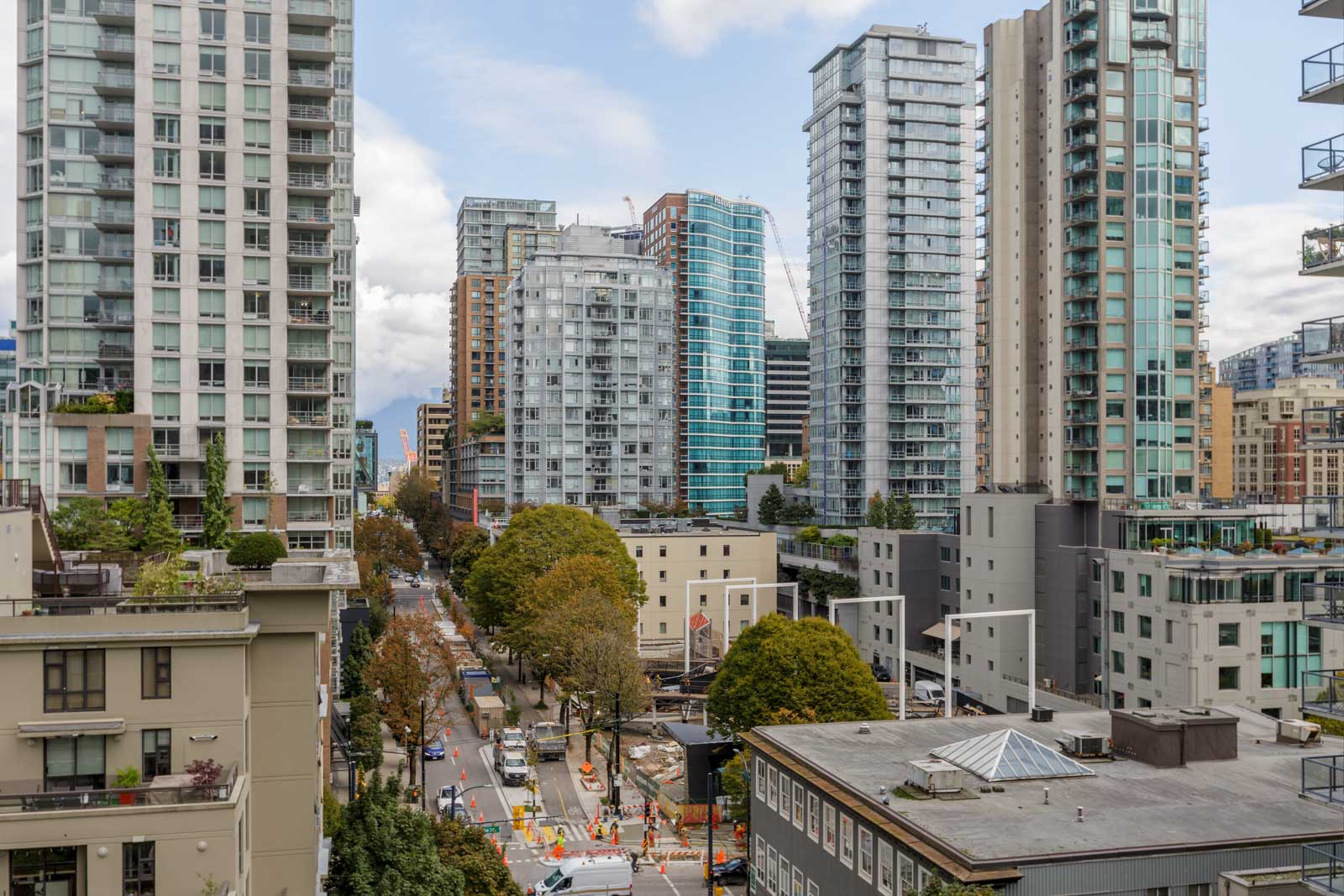 view of downtown Vancouver from condo